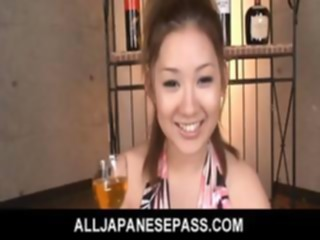 Karin Tsubaki Asian model is getting her hairy pussy poked asian hairy