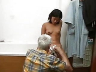 old guy young korean girl amateur asian mature