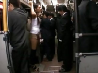 censored Rina Hukada groped on train thighjob japanese