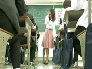 Remote vibrator under teacher skirt asian sex toy japanese