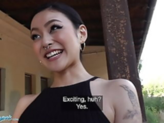 Public Agent Japanese beauty Rae Lil Black fucks for cash asian babe blowjob