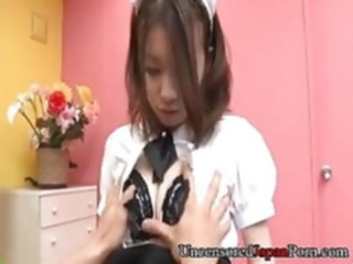 Uncensored Jpanese teen sucking cock and fucked hard asian japanese