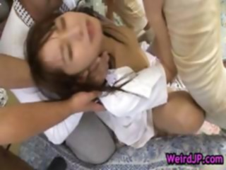 Mika osawa gets pounded by group part2 amateur asian babe
