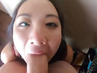 Oriental-throatie - At two different times! (Point-of-View) asian blowjob interracial